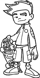 Jack american dragon jake long coloring page
