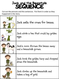 Jack and the beanstalk worksheets printable