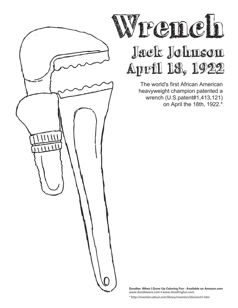 Jack Johnson Invention Black History Month Coloring Pages