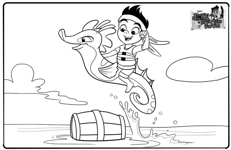 Jake And The Neverland Pirates Colouring Sheet