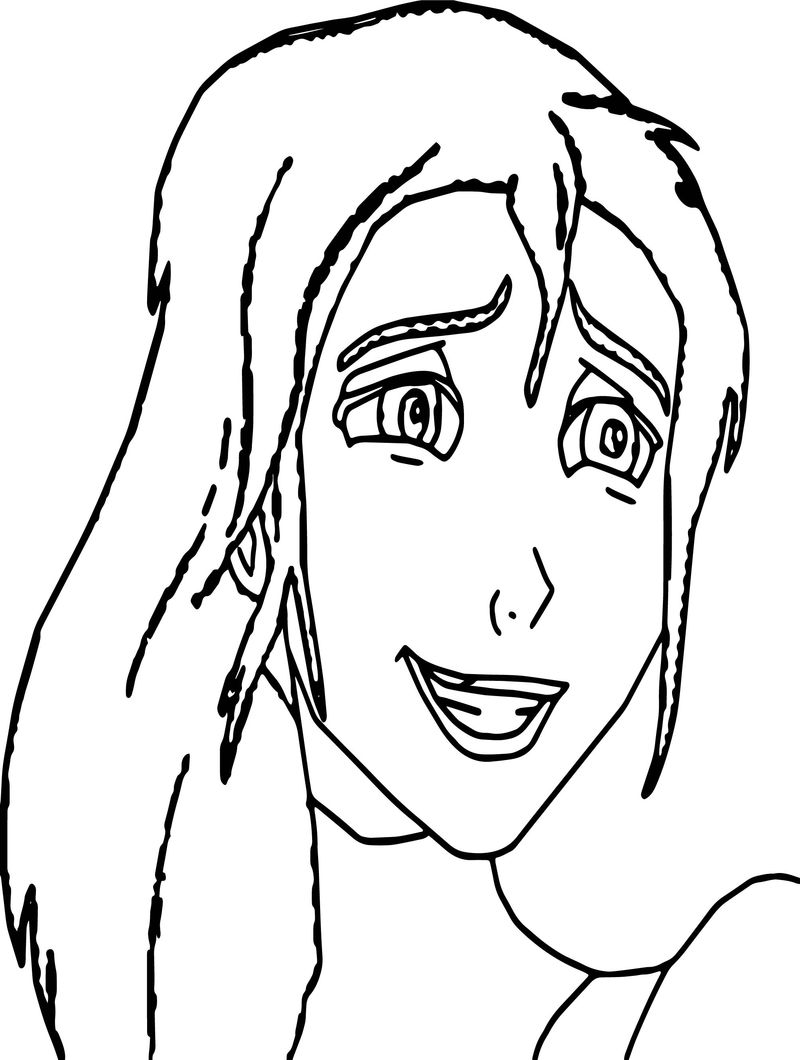 Jane Face Coloring Pages