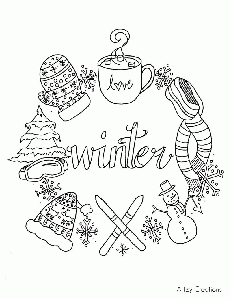 January Winter Coloring Pages