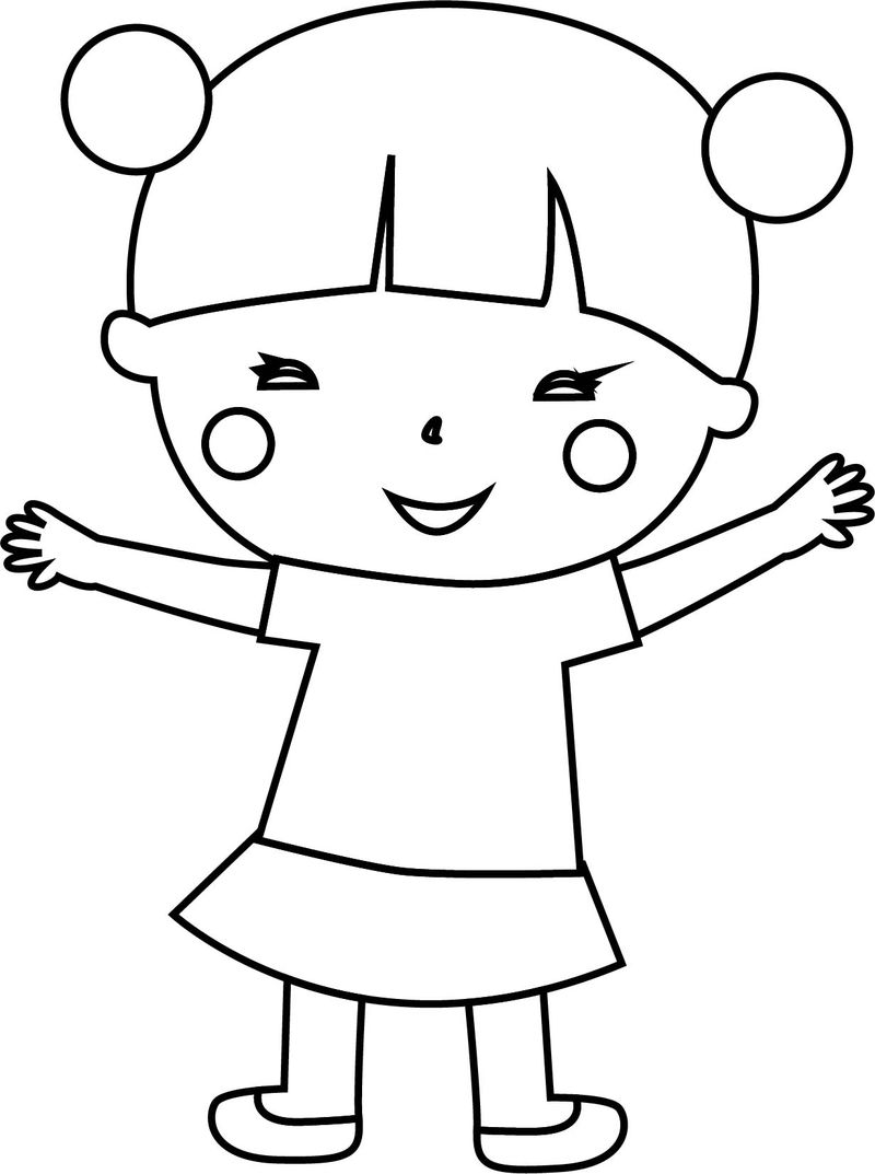 Japan Child Girl Coloring Page Coloring Sheets
