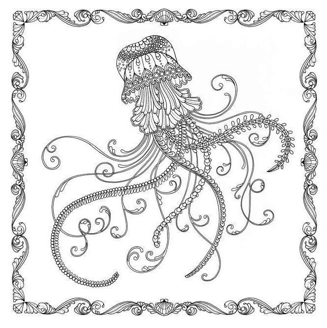 Jellyfish Lost Ocean Coloring Page