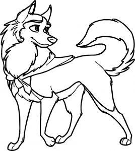 Jenna wolf coloring page