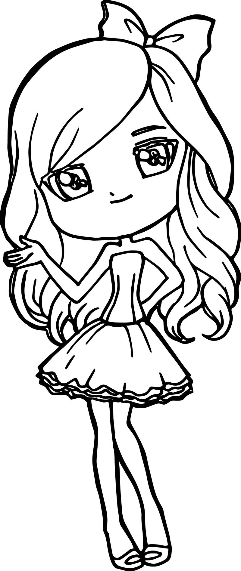 Jess Barbie Girl Coloring Page