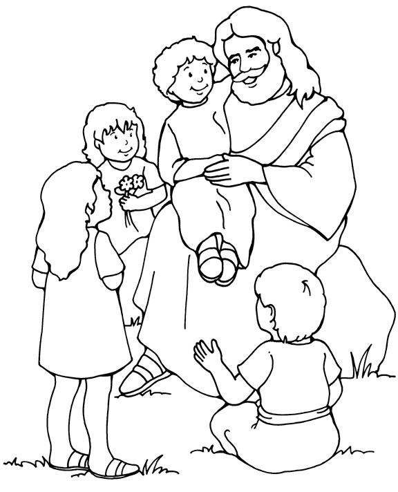 Jesus Coloring Pages For Kids