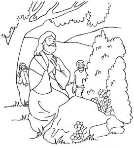 Jesus coloring pages printable 1