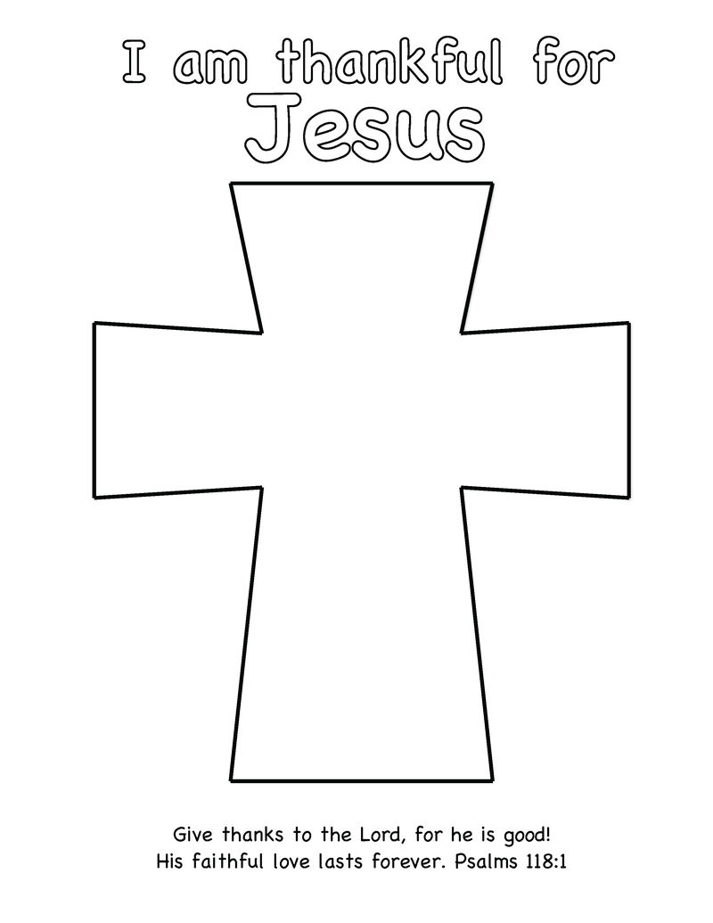 Jesus Cross Coloring Page For Bible School