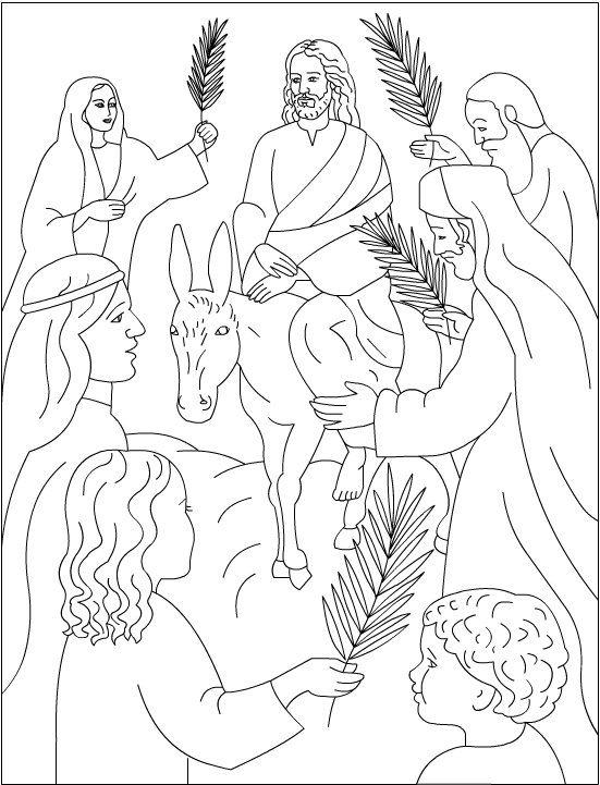 Jesus Palm Sunday Coloring Pages 1