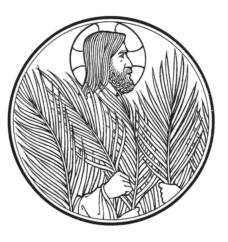 Jesus Palm Sunday Coloring Pages - Coloring Sheets