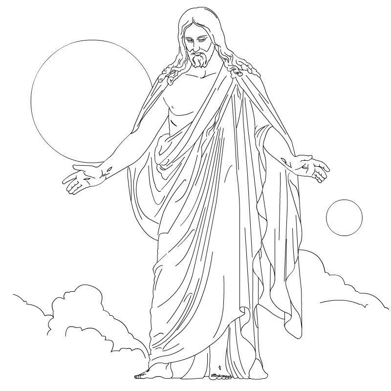 Jesus Walks On Water Coloring Page - Coloring Sheets