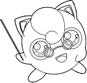 Jigglypuff teacher coloring page
