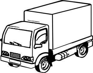 Job truck coloring page