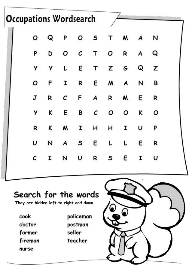 Job Word Search Occupation