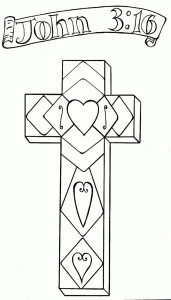 John 3 16 religious easter coloring pages