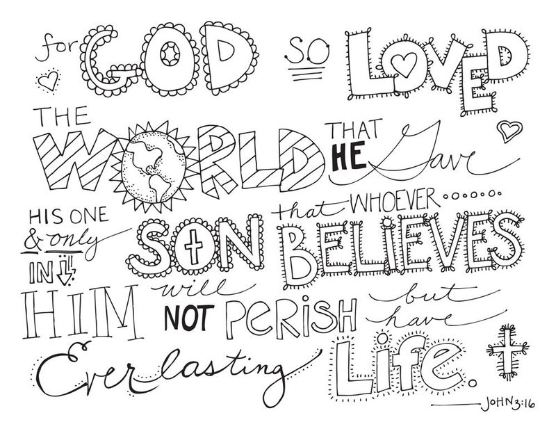 John 3.16 Bible Coloring Pages