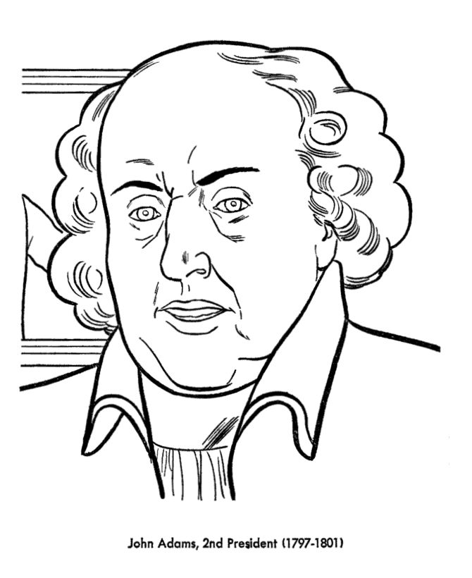 John Adams Presidents Day Coloring Pages