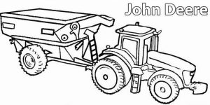 John deere truck farm machinery coloring pages