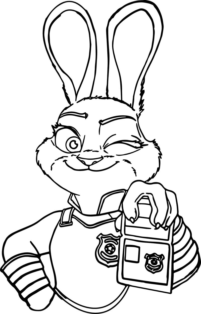 Judy Hoops I Am Police Coloring Page