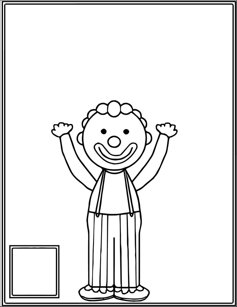 Juggle Count Clown Kid Coloring Page