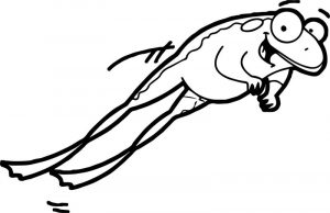 Jump frog coloring page