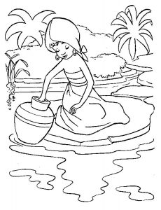 Jungle book coloring pages shanti