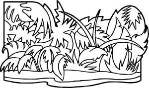 Jungle plants jungle coloring page