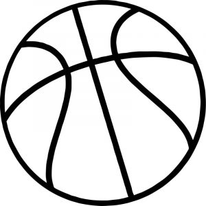 Just basketball ball coloring page