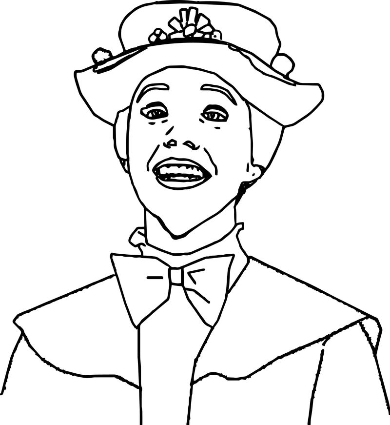 Just Mary Poppins Girl Coloring Page