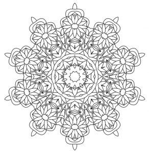 Kaleidoscope wonders coloring pages for adults