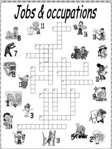 Kid crossword puzzles job