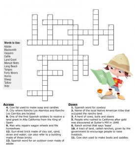 Kid crossword puzzles practice