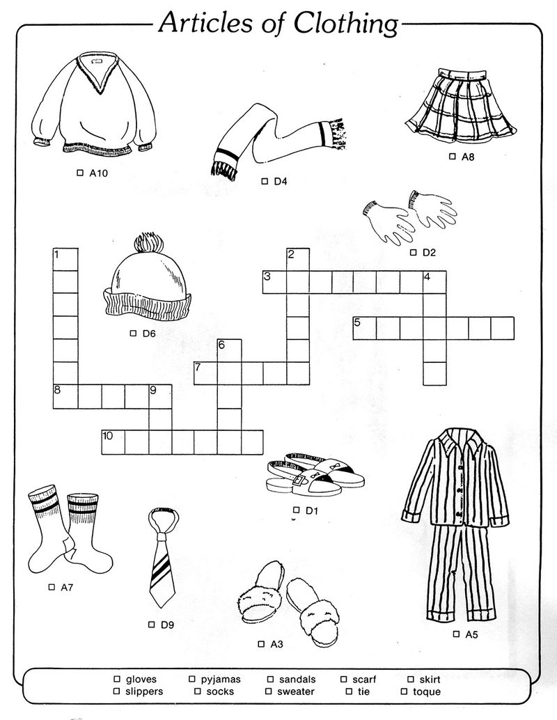 Kid Crossword Puzzles Printable