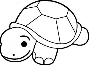Kid tortoise turtle coloring page