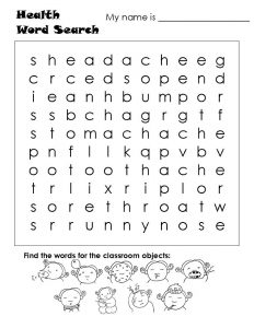 Kid word searches classroom