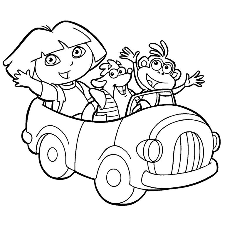 Kids Activity Pages Dora Coloring