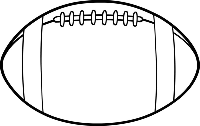 Kids Coloring Page For Football American 001