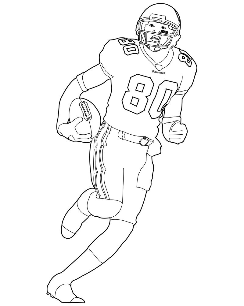 Kids Coloring Page For Football Player 001
