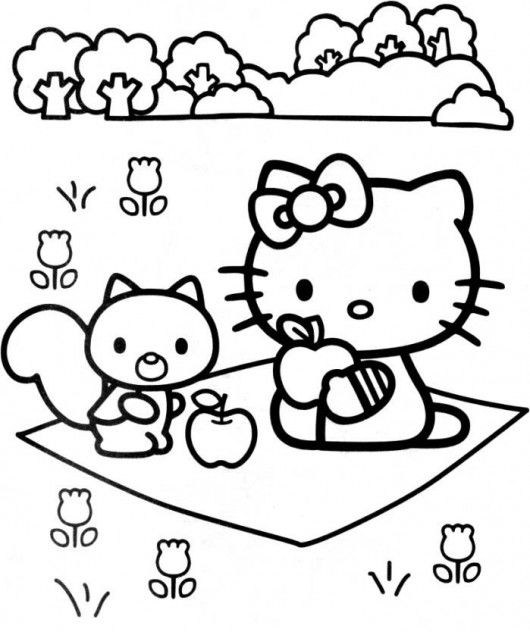 Kids coloring pages hello kitty