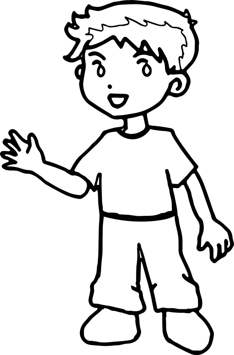 Kids Hello Coloring Page