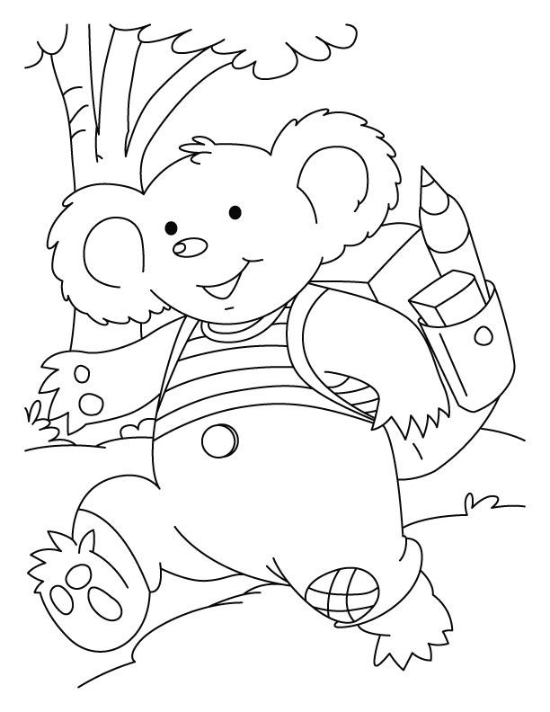 Kids Koala Coloring Pages