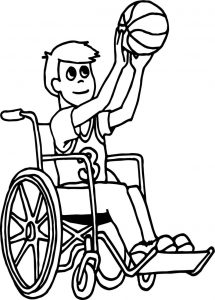 Kids playing basketball cartoon playing basketball coloring page