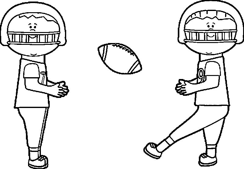 Kids Playing Football Playing Football Coloring Page