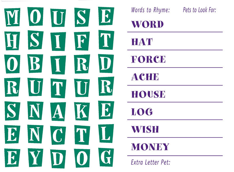 Kids Word Search Puzzles Worksheet