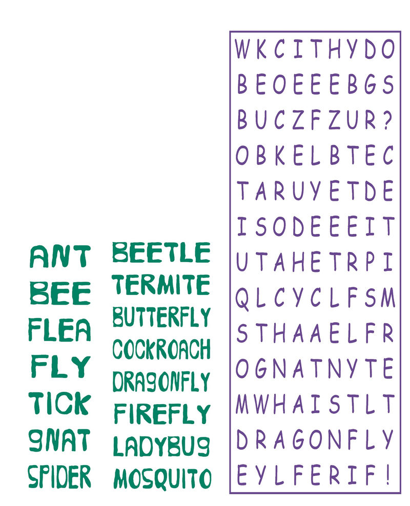 Kids Word Searches Simple