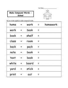 Kids work sheets school