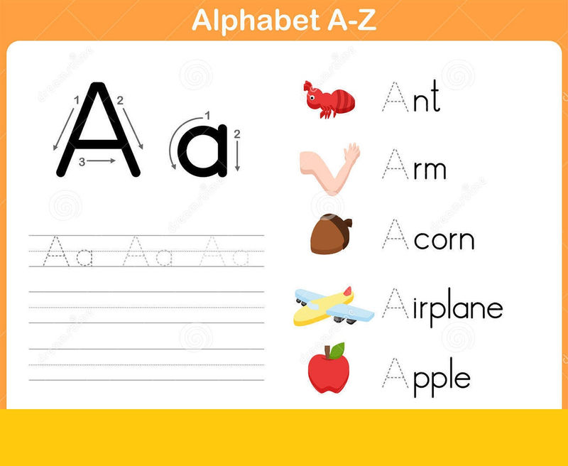 Kids Worksheet Abc Tracing Color 001