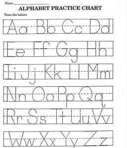 Kindergarten alphabet tracing worksheets printable 001