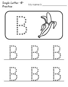 Kindergarten alphabet tracing worksheets simple 001